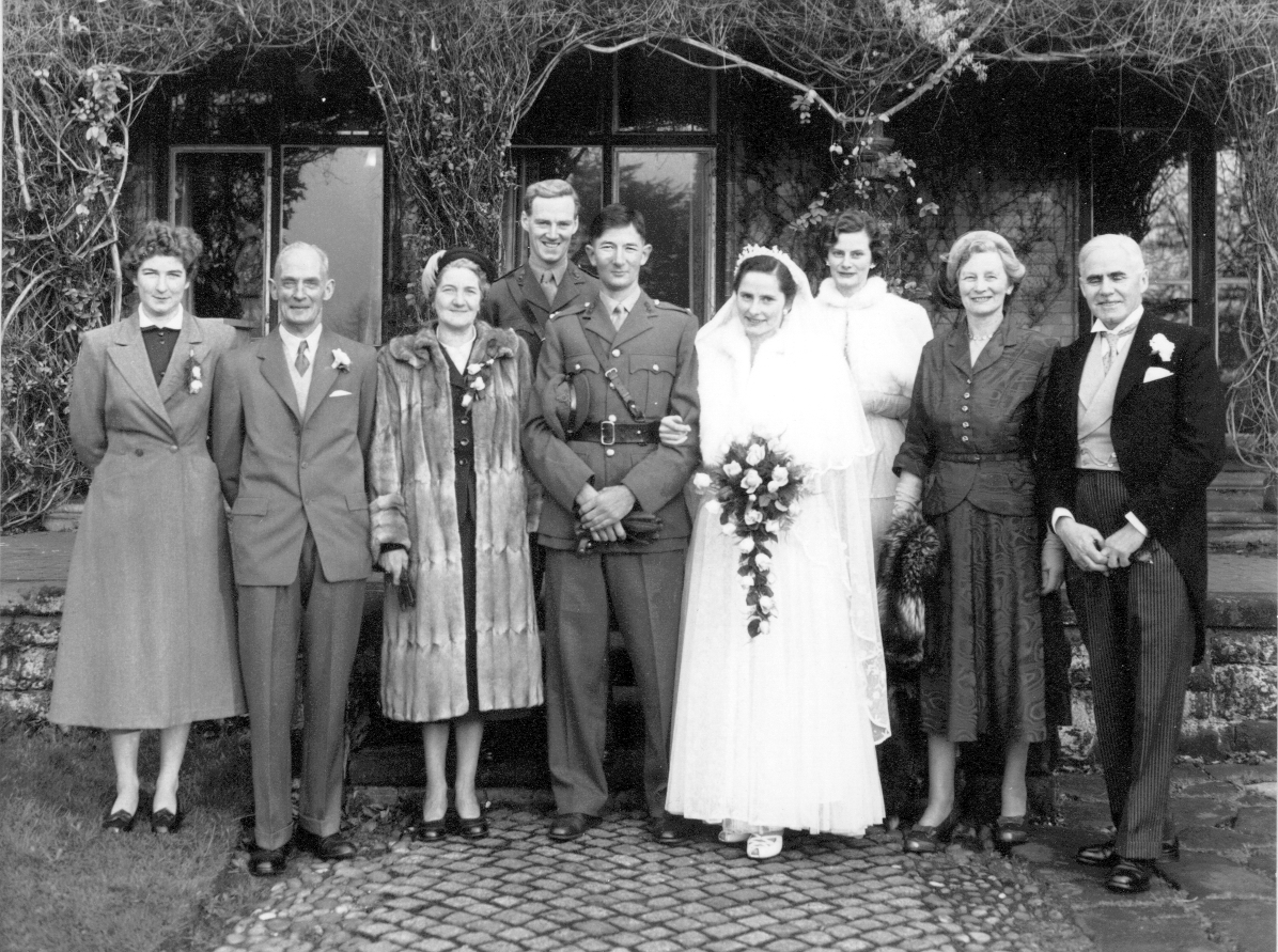 Sheila and Peter Hodgkinson , married 12 December 1953.